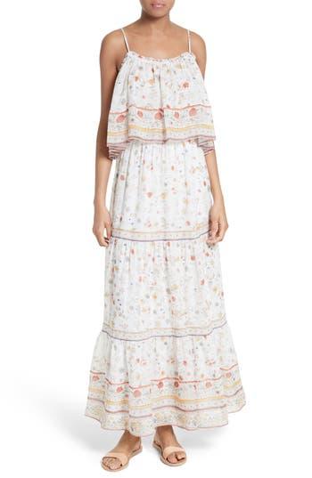 Joie Vernita Popover Bodice Silk Maxi Dress