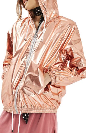 Topshop Metallic Windbreaker