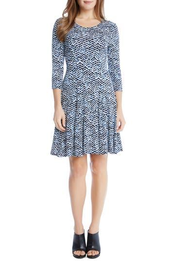 Karen Kane Print Jersey Fit & Flare Dress