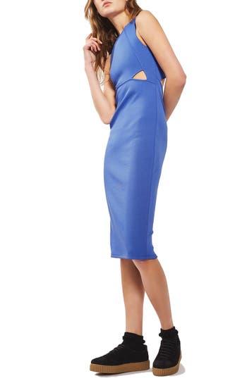 Topshop Cutout Ribbed Body-Con Dress