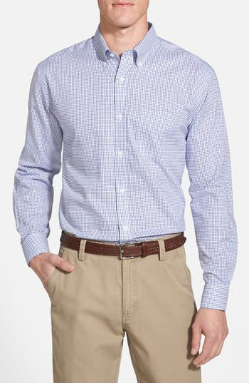 Cutter & Buck 'Epic Easy Care' Classic Fit Wrinkle Free Tattersall Plaid Sport Shirt (Online Only)