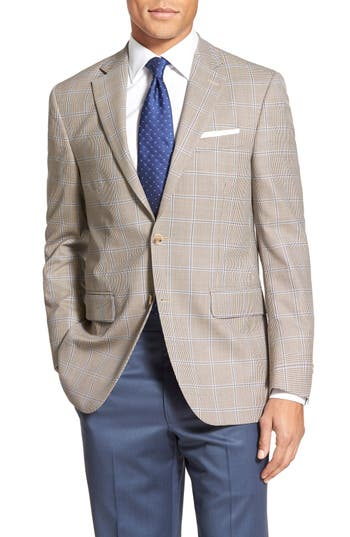 Peter Millar 'Flynn' Classic Fit Windowpane Wool Sport Coat