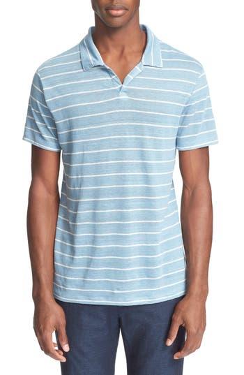 ONIA 'Shaun' Stripe Linen Polo