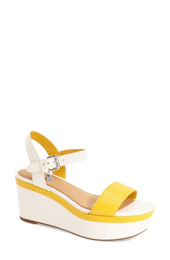 COACH 'Brittanie' Wedge Sandal (Women)
