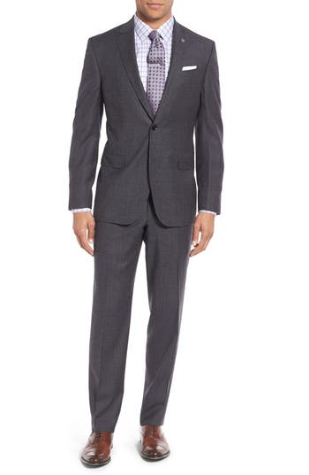 Ted Baker London 'Jay' Trim Fit Plaid Wool Suit
