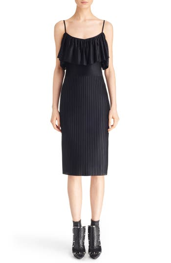 Givenchy Pleated Off the Shoulder Ruffle Dress