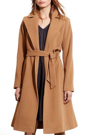 Lauren Ralph Lauren Wool Blend Wrap Coat (Regular & Petite) (Online Only)