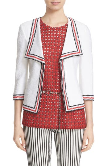 St. John Collection 'Clair' Rever Collar Three Quarter Sleeve Jacket