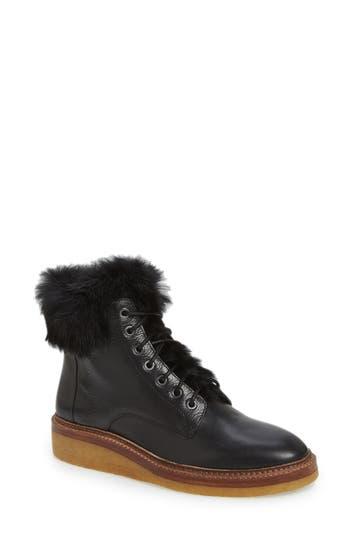Pour la Victoire 'Jett' Leather & Genuine Rabbit Fur Boot (Women)