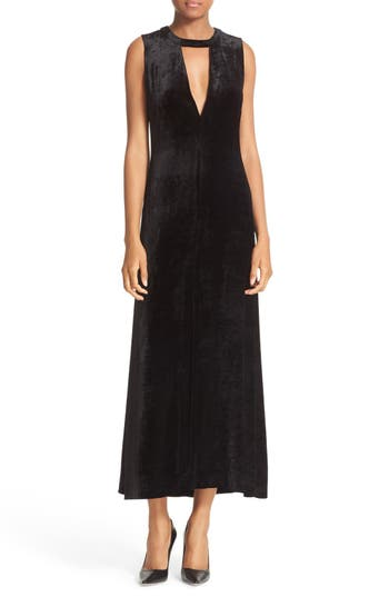 A.L.C. Anya Cutout Velvet Dress