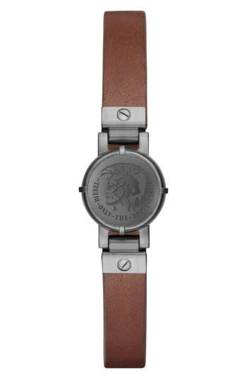 DIESEL® Leather Strap Activity Tracker