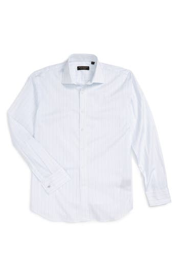 Burberry Miles Trim Fit Stripe Sport Shirt