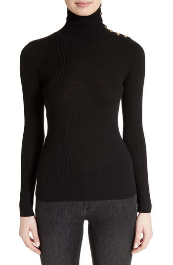 Burberry Beavly Merino Wool Turtleneck Sweater