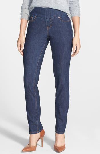 Jag Jeans 'Malia' Pull-On Stretch Slim Jeans (Dark Shadow)