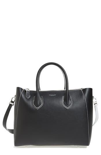 Michael Kors Large Helena Contrast Leather Satchel