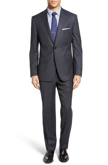 JB Britches Classic Fit Solid Wool Suit