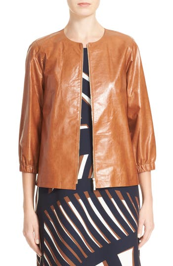 Lafayette 148 New York Wylie Leather Jacket