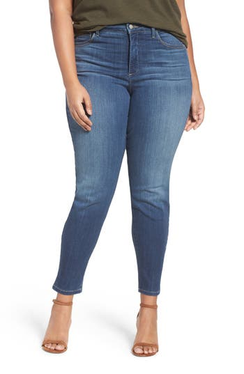 NYDJ 'Ami' Stretch Skinny Jeans (Saint Veran) (Plus Size)