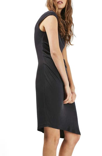Topshop Asymmetric Slinky Drape Midi Dress (Regular & Petite)