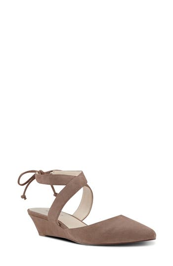 Nine West Elira Crisscross Strappy Wedge Pump (Women)
