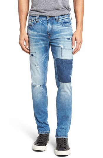 True Religion Brand Jeans Rocco Skinny Fit Jeans (DPUM Train Hopper) (Regular & Big)