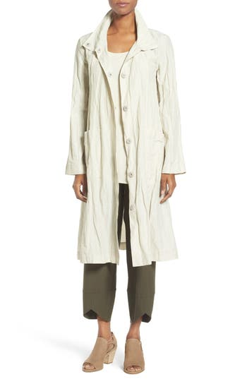 Eileen Fisher Rumpled Organic Cotton Blend Coat