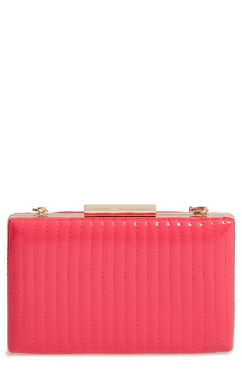 Sondra Roberts Quilted Faux Leather Box Clutch