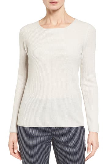 Nordstrom Collection Button Back Cashmere Pullover
