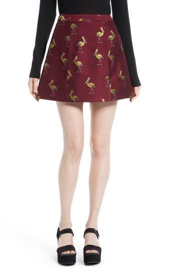 Alice + Olivia Loran Bird Print Miniskirt