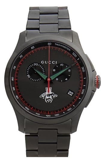 Gucci Round Chronograph Bracelet Watch, 44mm