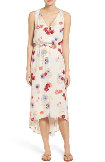 Lucky Brand Painted Floral High/Low Maxi Dress