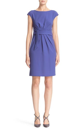 Armani Collezioni Faux Tie Tech Cady Dress