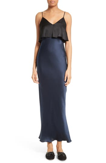 Diane von Furstenberg Tiered Silk Maxi Dress