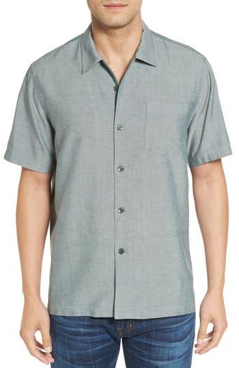 Tommy Bahama 'Ocean' Standard Fit Oxford Silk Camp Shirt