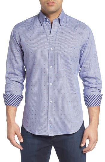 TailorByrd 'Exelero' Regular Fit Dot Houndstooth Sport Shirt