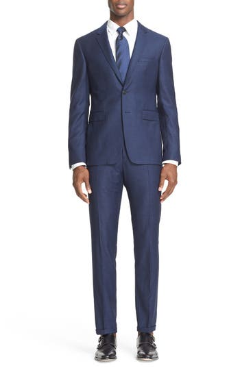 Burberry London 'Stirling Travel' Trim Fit Wool Suit
