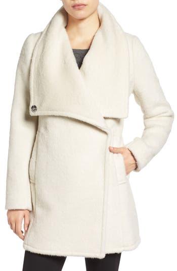 Badgley Mischka 'Anna' Brushed Wool Blend Coat