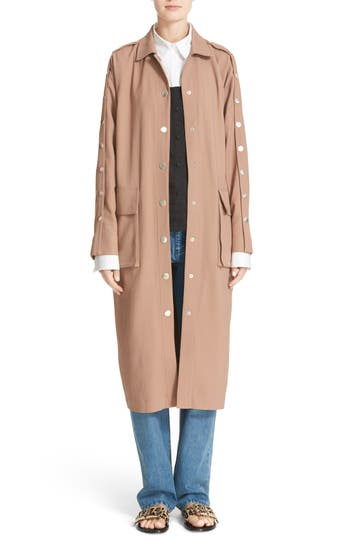 Tibi Snap Sleeve Trench Coat