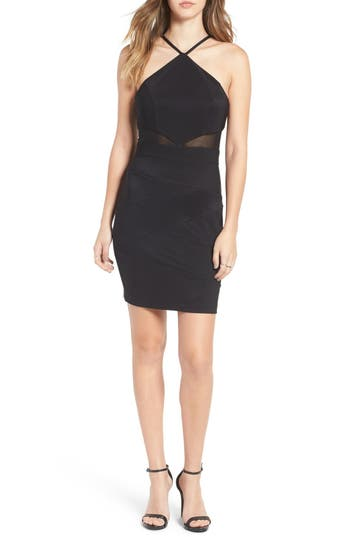 Love, Nickie Lew Illusion Cutout Body-Con Dress