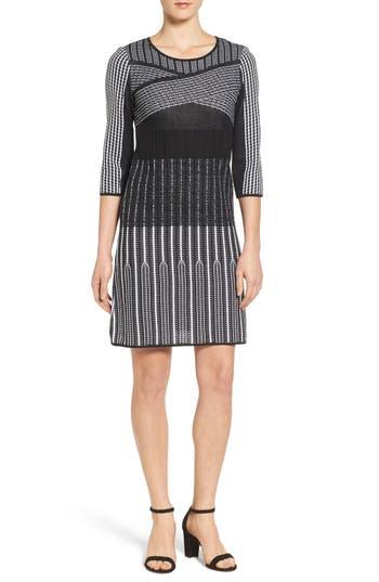 Ming Wang Knit A-Line Dress