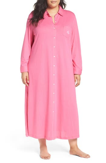 Lauren Ralph Lauren Lounge Maxi Dress (Plus Size)