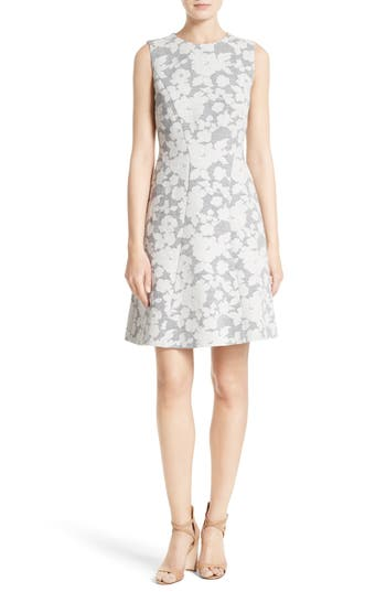 BOSS Hellery Floral Fit & Flare Dress
