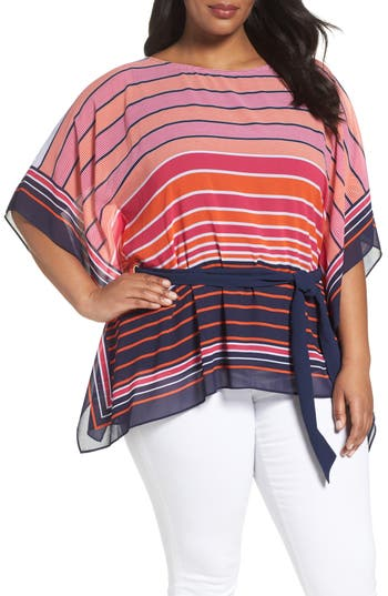 MICHAEL Michael Kors Abbey Stripe Tunic (Plus Size)
