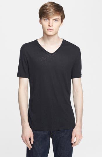 John Varvatos Star USA Pintuck V-Neck T-Shirt