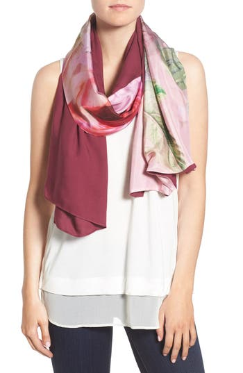 Ted Baker London 'Pure Peony' Split Scarf