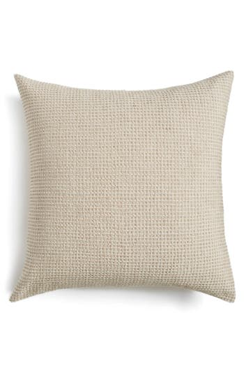 Nordstrom at Home Waffle Knit Washed Cotton & Linen Euro Sham