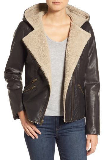 Levi's® Hooded Faux Shearling Jacket