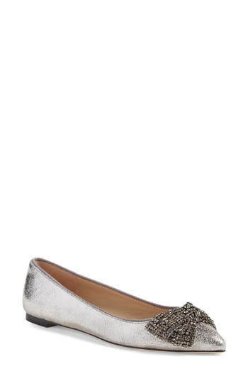 Tory Burch Vanessa Embellished Bow Flat (Women)