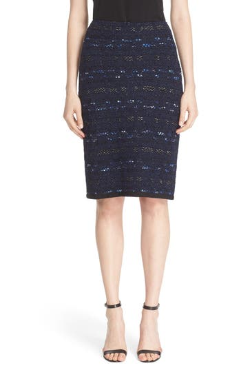 St. John Collection 'Evening Cruise Stripe' Pencil Skirt