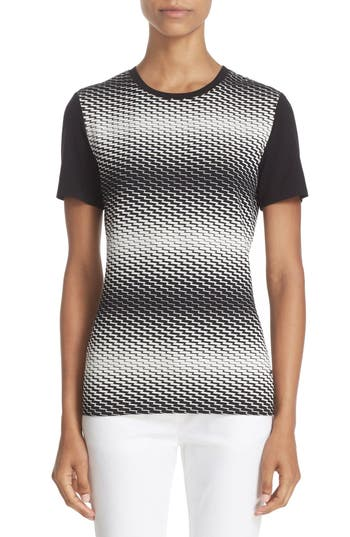 St. John Sport Collection Zigzag Jersey Tee